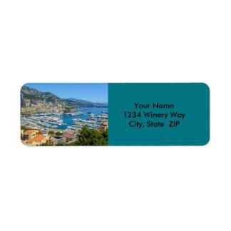 Monte Carlo Mónaco Etiqueta De Remitente