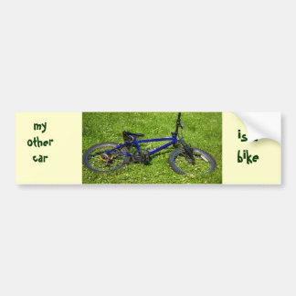 monte en bicicleta, mi otro coche, es abike pegatina para coche