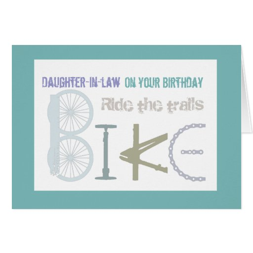 Monte los rastros Biking cumpleaños de la nuera Felicitaciones