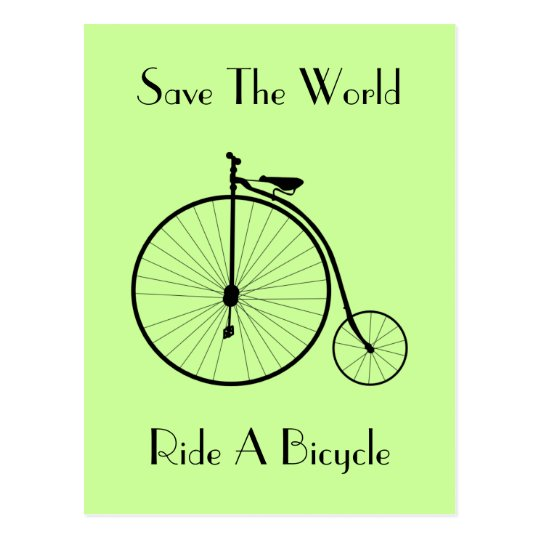 Monte una postal del vintage de la bicicleta