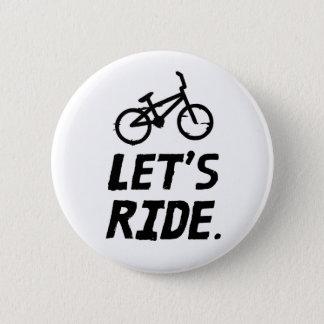 Montemos el humor del ciclista de la ciudad y de chapa redonda de 5 cm