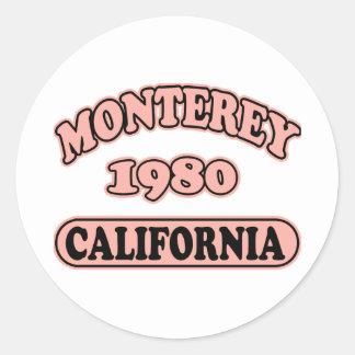 Monterey, Ca -- Camiseta Pegatinas Redondas