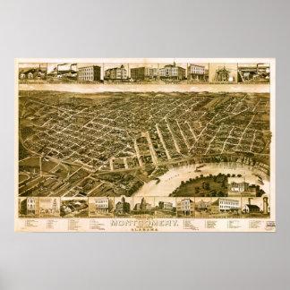 Montgomery Alabama 1887 Póster