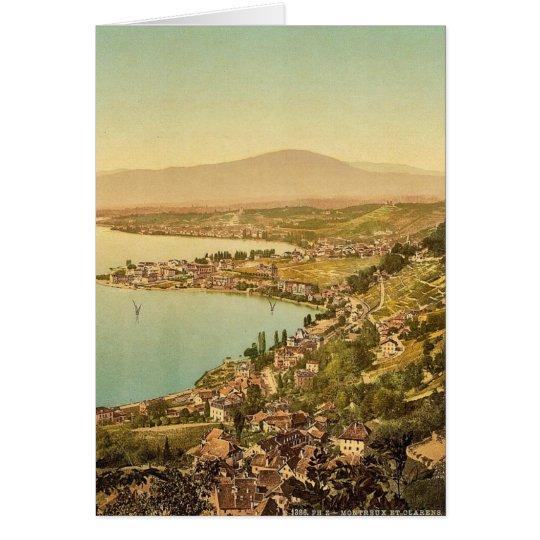 Montreux, y Clarens, lago Geneve, Suiza VI Tarjeta De Felicitación