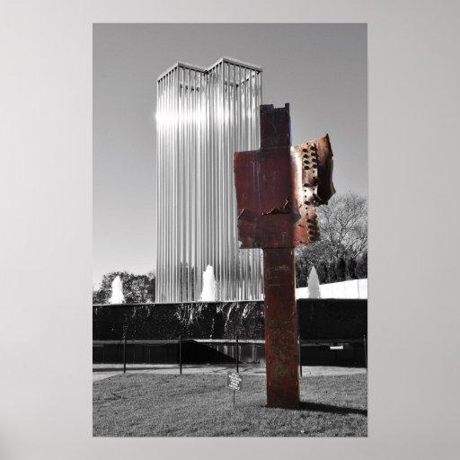 Monumento 2 de las torres gemelas póster