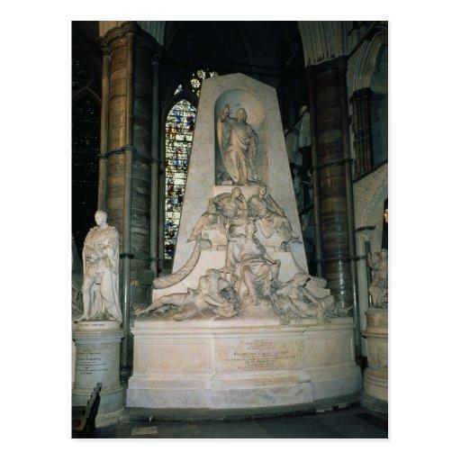 Monumento a Guillermo Pitt la anciano Postal