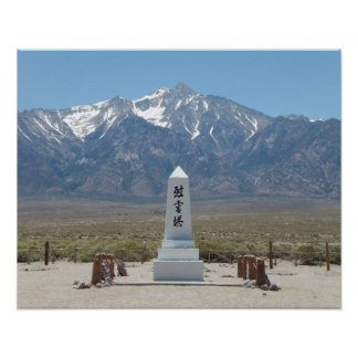 Monumento de guerra de Manzanar Póster