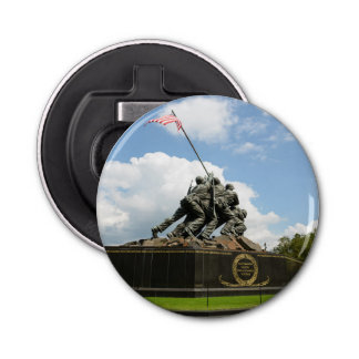 Monumento de Iwo Jima en Washington DC Abrebotellas Redondo