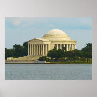 Monumento de Jefferson en Washington DC Póster