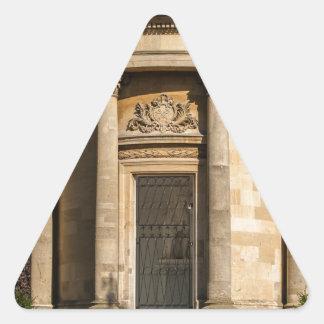 Monumento de Jephson Pegatina Triangular