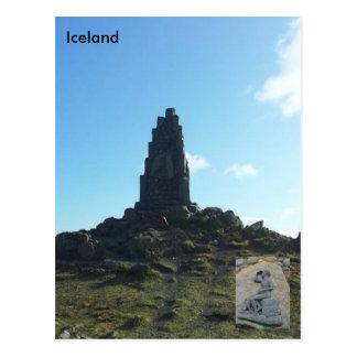 Monumento de Stephan Stephansson en Vatnsskarð Postal
