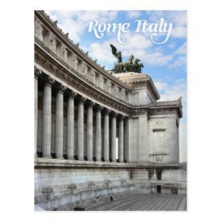 Monumento de Vittorio Manuel en Roma Italia Postal
