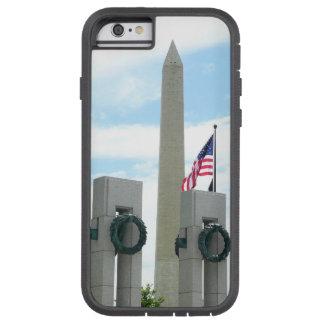 Monumento de Washington y monumento de WWII en DC Funda Tough Xtreme iPhone 6