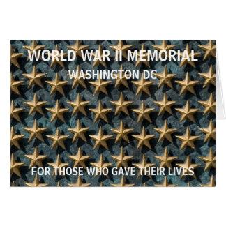 Monumento de WWII - Washington DC Tarjeta