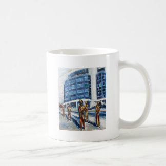 monumento del hambre taza de café