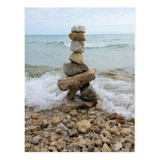 Monumento del pilar de la roca - isla de Mackinac, Postal