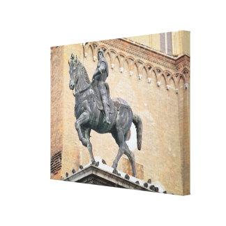 Monumento ecuestre de Bartolommeo Colleoni (1400- Impresión En Lienzo