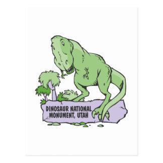 Monumento nacional Utah del dinosaurio Tarjetas Postales