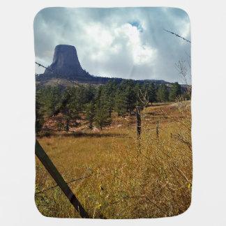 Monumento nacional Wyoming de la torre de los Mantita Para Bebé
