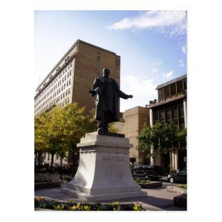 Monumento sumario de Garfield. Esto se aplica por  Postal