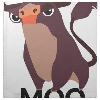 MOO, diseño malo de la vaca Servilleta De Papel