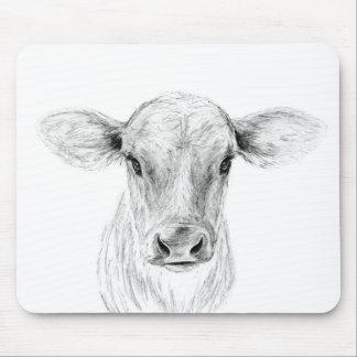 MOO una vaca joven del jersey Alfombrilla De Ratón