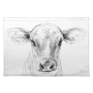 MOO una vaca joven del jersey Salvamanteles