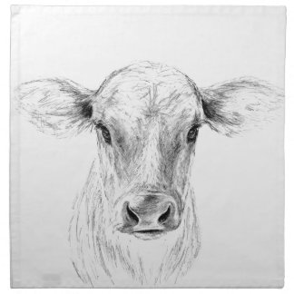 MOO una vaca joven del jersey Servilletas De Papel