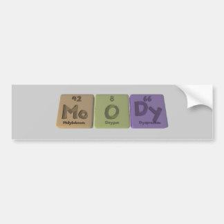 Moody-Mo-O-Dy-Molybdenum-Oxygen-Dysprosium.png Pegatina Para Coche