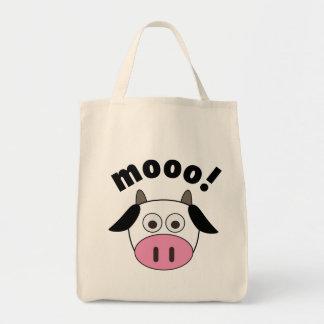 ¡Mooo! Vaca Bolsa Tela Para La Compra
