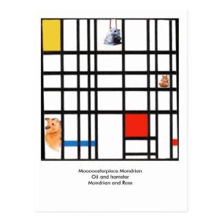 Moooooosterpiece Mondrian Postal