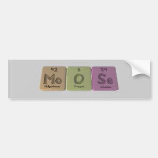 Moose-Mo-O-Se-Molybdenum-Oxygen-Selenium.png Pegatina Para Coche