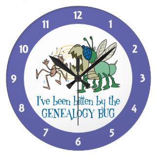 Mordido por el insecto de la genealogía reloj redondo grande