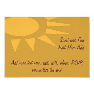 Moreno del marco de Sun Invitaciones Personalizada