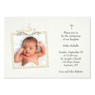 Moreno, paloma blanca, tarjeta religiosa de la invitación 12,7 x 17,8 cm