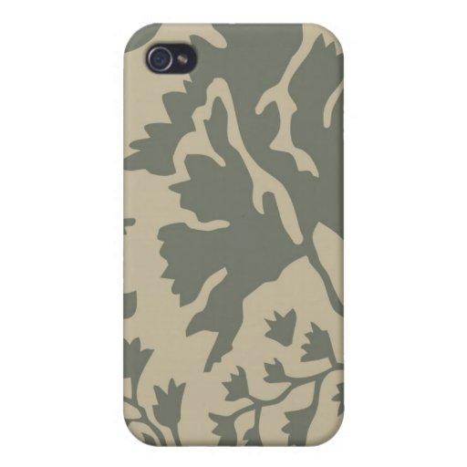 Moreno y Camo militar gris iPhone 4 Fundas