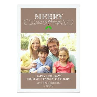Moreno y tarjeta blanca de la foto del día de invitación 12,7 x 17,8 cm