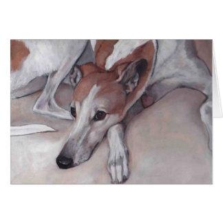 Moreno y tarjeta de nota blanca del arte del perro