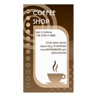 morenos de la lealtad de la cafetería plantillas de tarjetas de visita