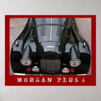 Morgan más 4 - coche clásico póster