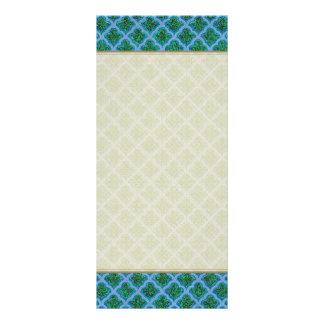 Morrocan inspiró en azul y verde diseño de tarjeta publicitaria