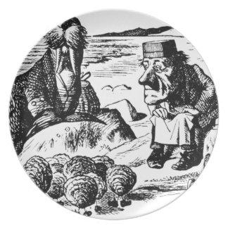 Morsa, Carpeter y ostras Plato
