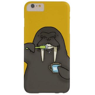 Morsa que cepilla sus dientes funda barely there iPhone 6 plus