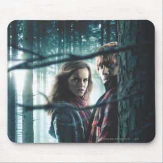 Mortal santifica - Hermione y Ron Alfombrilla De Ratón