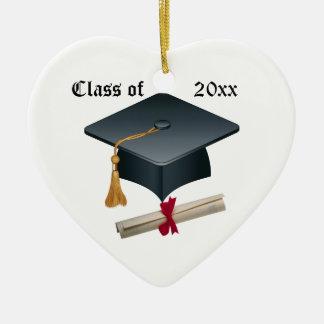 Mortero de la graduación y ornamento del diploma ornamento de navidad