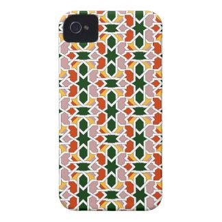 Mosaico 01 en cuerda de geometría marroquí en Case-Mate iPhone 4 cárcasas