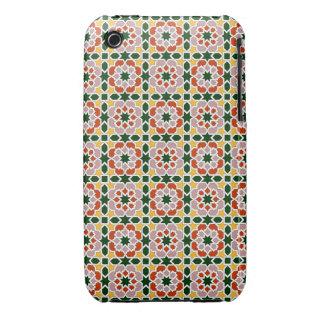 Mosaico 01 en flores de geometría marroquí en funda para iPhone 3 de Case-Mate