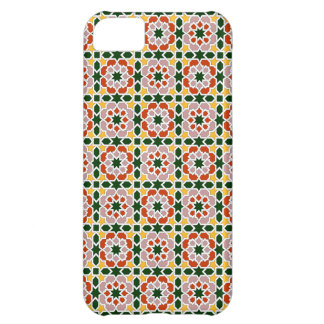 Mosaico 01 en flores de geometría marroquí en funda para iPhone 5C