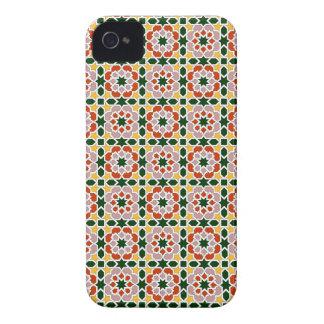 Mosaico 01 en flores de geometría marroquí en iPhone 4 protector