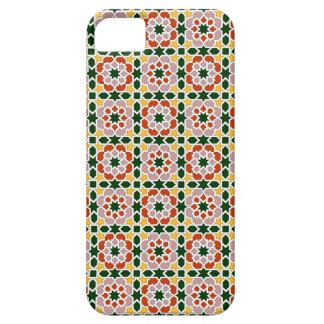 Mosaico 01 en flores de geometría marroquí en iPhone 5 protector